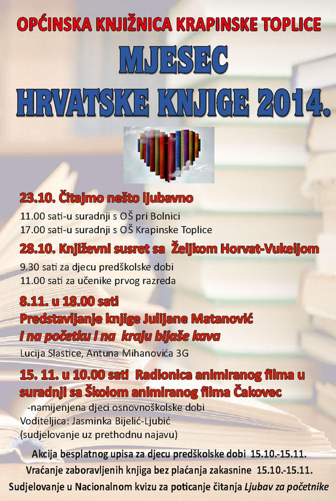 knjiznica krapinske toplice plakat 10 2014  Općinska knjižnica Krapinske Top...